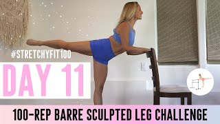 GET SCULPTED LEGS IN 30 DAYS CHALLENGE! Day 11: 100 Blossoming Beebalm! 🌺 #StretchyFit100