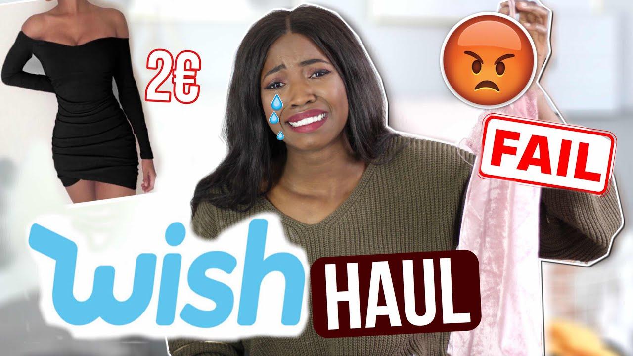 Wieso ich nie wieder bei WISH Fashion bestelle ! Fail Try on Haul live test   Abigail