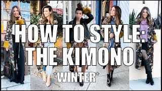 5 Ways To Wear a KIMONO! - Winter Outfits - by Orly Shani