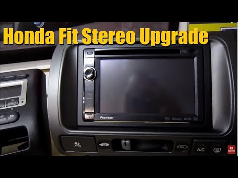 Builds: Honda Fit Audio Upgrade (Double DIN And Speakers) | AnthonyJ350