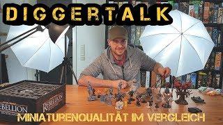 Diggertalk – Miniaturenqualität im Vergleich - Wo beginnt für euch mangelhaft? - Boardgame Digger