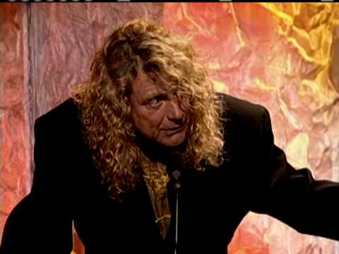 Led Zeppelin accept award Rock and Roll Hall of Fame inductions 1995