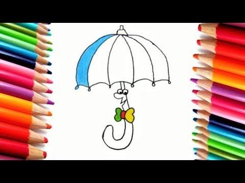 Dibuja y Colorea un Paraguas de Arcp Iris - Dibujos para Niños ...