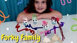 How To Make Forky From Toy Story 4 - Kids DIY Craft Ideas - Forky and Family