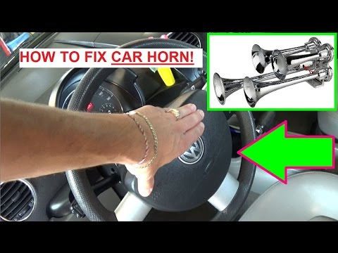 How to fix a Car Horn Fixing Horn on a Car!!! - YouTube