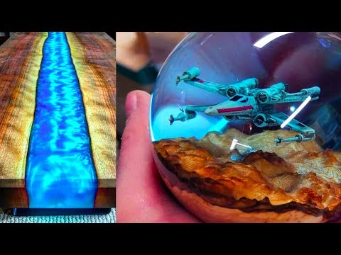Epoxy Resin star wars sphere RIVER Table MAKING PROCESS 10 IDEAS epoxy resin WOODworking projects