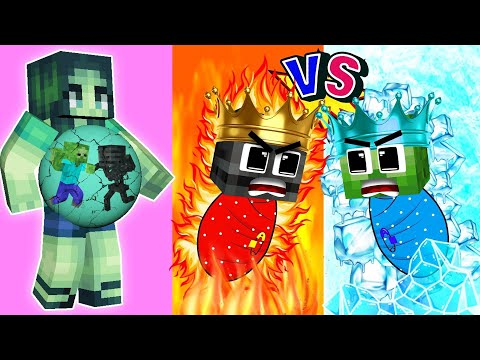 Monster School : Baby Zombie and Baby Wither Skeleton (Bad Family) - Sad Story - Minecraft Animation