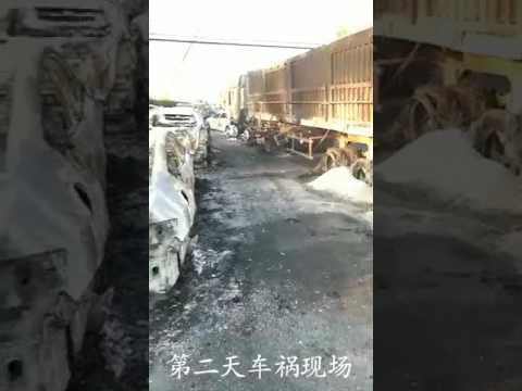 China highway fuel tanker explosion