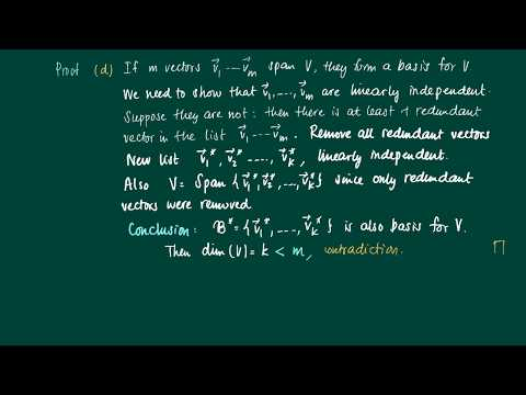 Math 2.9.6: Span linear (in)dependence and dimension, proof theorem 2.9.5