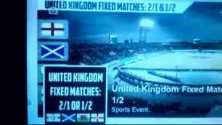 United Kingdom Fixed Matches: 2/1 & 1/2 - TICKET 01/11/2014
