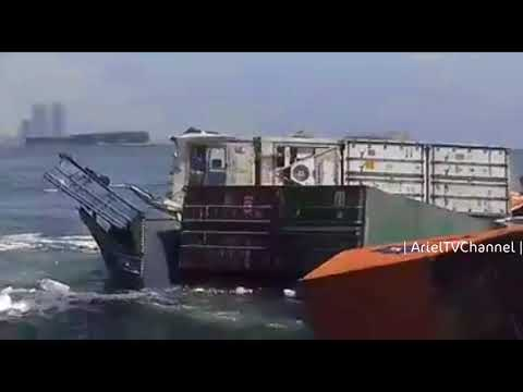 container ships accident at Karachi port | 19 March 2018