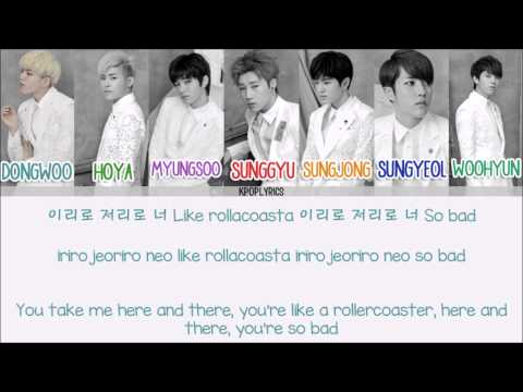 Infinite - Bad [Eng/Rom/Han] Picture + Color Coded HD