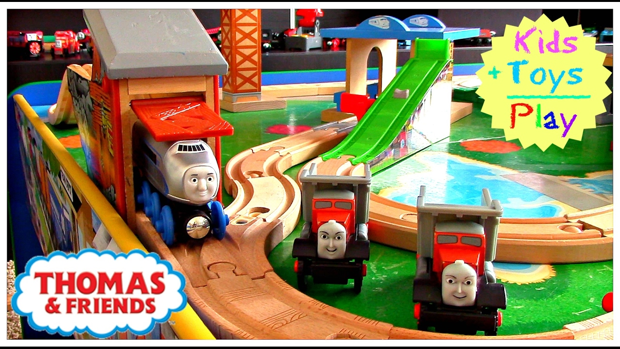 Thomas The Train Wooden Railway Max And Monty Playtime Playing With Thomas Friends Toy Trains