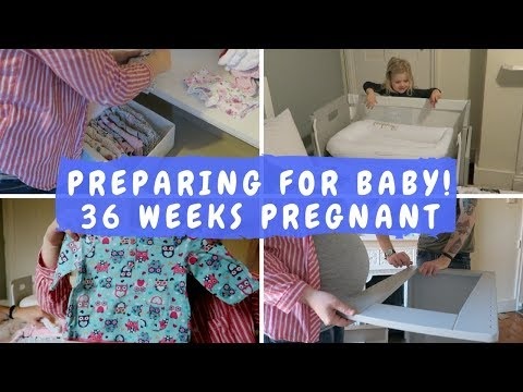 BUILDING THE COT & PREPARING FOR BABY! | 36 WEEKS PREGNANT VLOG