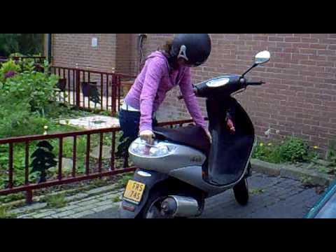 Scooter op Standaard zetten