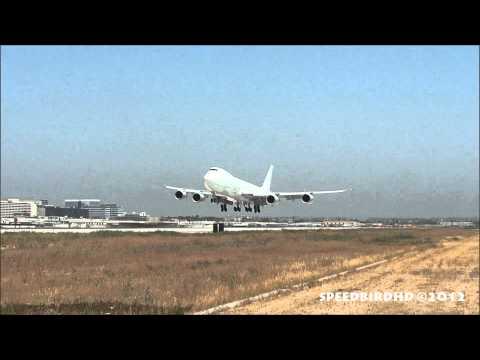 Boeing 747-8KZ(F) [N6009F] Landing In Los Angeles