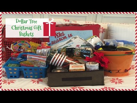 DOLLAR TREE CHRISTMAS GIFT BASKETS | Last Minute Gift Ideas | 2016