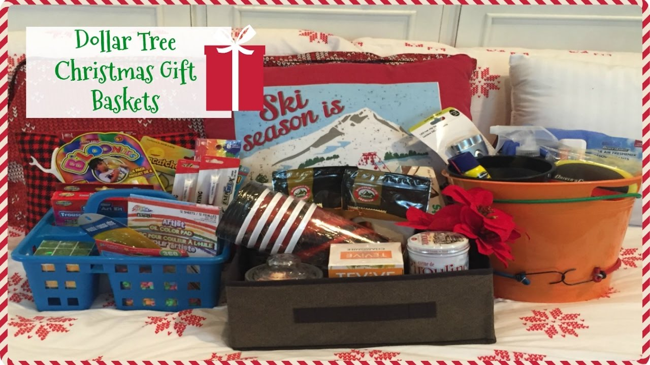 Christmas Gift Baskets Ideas.Dollar Tree Christmas Gift Baskets Last Minute Gift Ideas 2016