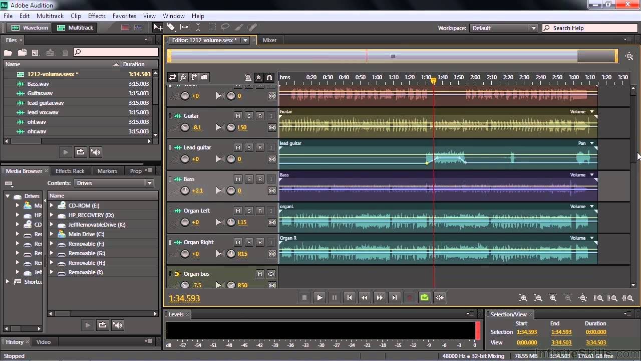 Adobe Audition Cc Tutorial Adjusting And Automating