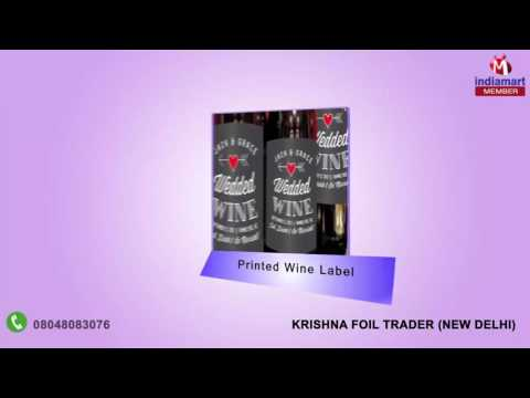 Printed Stickers and Labels By Krishna Foil Trader, New Delhi