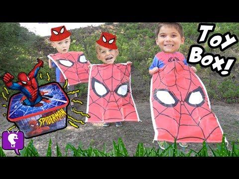 SPIDERMAN Adventure Treasure Chest HUNT! Rockets + TOYS HobbyKidsTV
