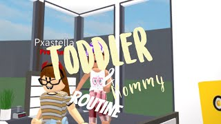 🌙 TODDLER AND MOMMY ROUTINE - ROBLOX BLOXBURG ROLEPLAY