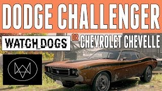 "Watch Dogs Cars | Dodge Challenger/Chevrolet Chevelle ""Vespid"" 