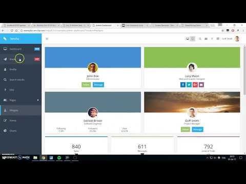Sencha Architect - ExtJS App tutorial - Part 2: Tab Panel as a simple menu
