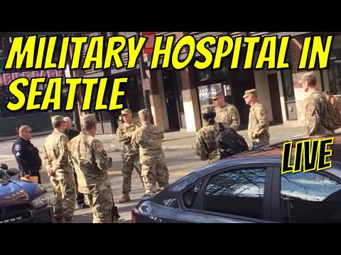 1st On Scene Of New Hospital Set Up By FEMA & US Army Corp Of Engineers!  Extortion Everywhere!