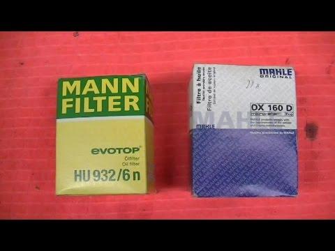 VR6 Oil Filter Mann v Mahle
