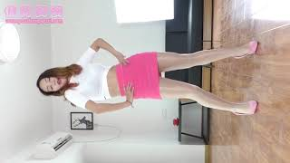 Sexy Dance with pink skirt and candid pantyhose