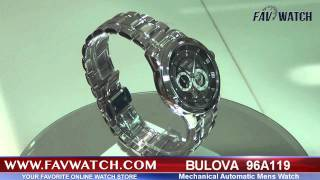 Bulova Mens Watch 96A119 Mechanical Automatic Movement.