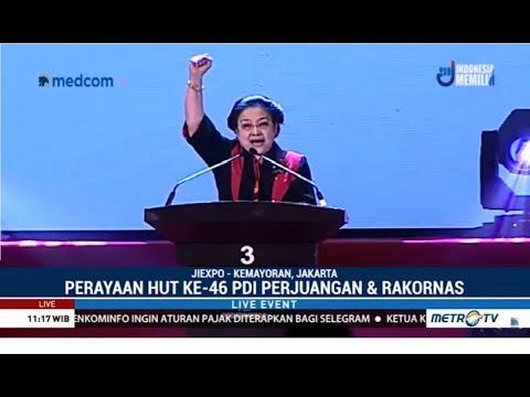 (Full) Pesan Megawati di Perayaan HUT ke-46 PDIP