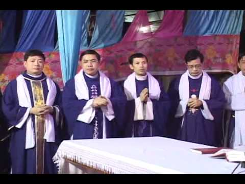 lễ an táng cha Giuse Vũ Văn Đại 3 đền thánh Sa Châu làng Gòi Giao Châu