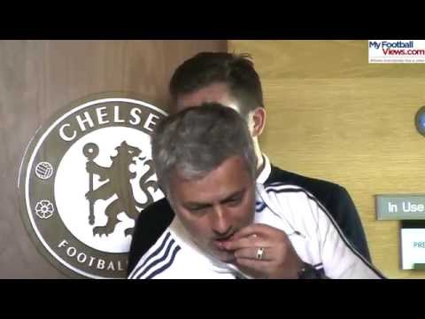 Jose Mourinho offers nuts to journalists at his press conference