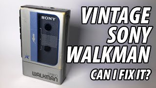 Vintage Sony Walkman - Can I Fix it? (basic repair)