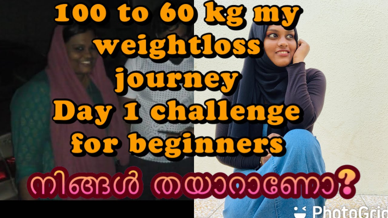 Download Day 1#weightloss challenge for beginners/100 to 60 kg /Malayalam