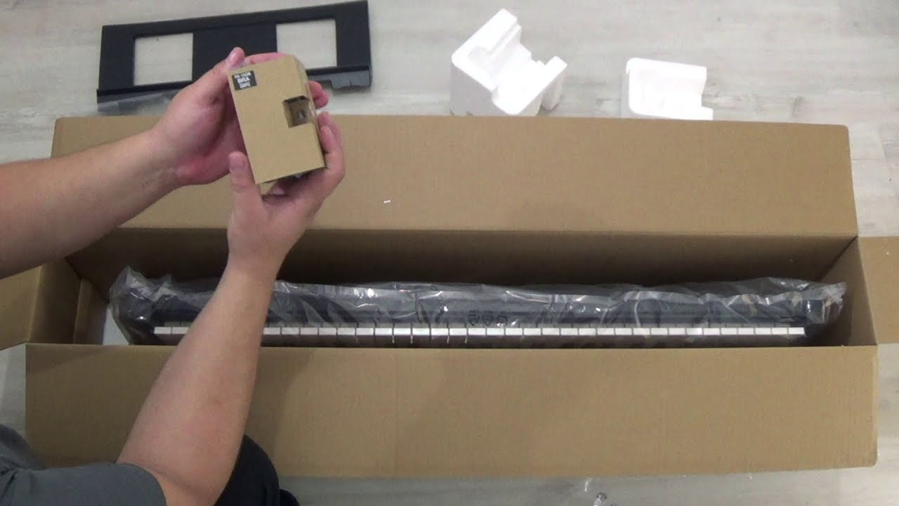 YAMAHA PSR-E273 - Unboxing (abrindo a caixa)