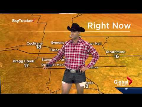 Thumbnail: Jordan Witzel wears daisy dukes on Calgary Morning News