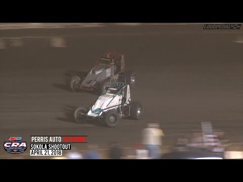 USAC/CRA Sprint Feature Highlights | Perris Auto Speedway 4.21.18