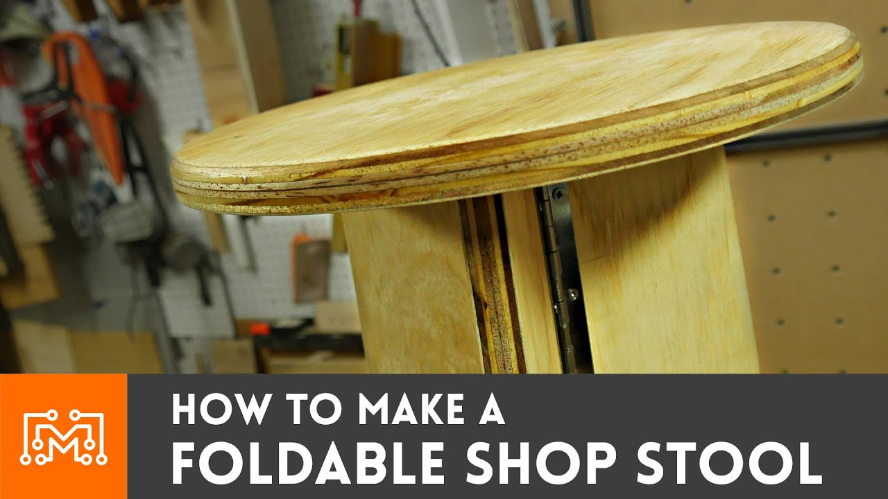 How To Make A Foldable Shop Stool Youtube