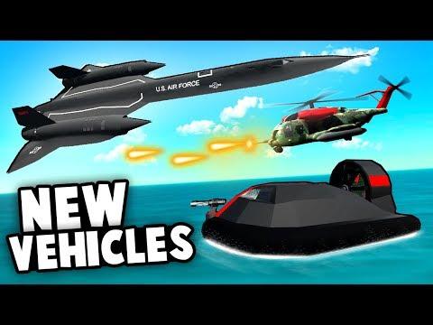 AMAZING NEW VEHICLES! Stealth Hovercraft, Blackbird and Liberator Heli! (Ravenfield Best Mods)