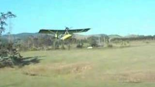 Microlight paddock Takeoff   Bantam B22 Rotax