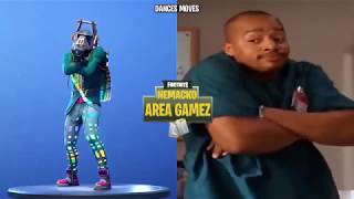 *NEW* FORTNITE BAILES SYNCED IN REAL LIFE // AREA GAMEZ // PROMO IKONIK