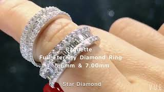 [Design by Star Diamond] Baguette Full Enternity Diamond Ring