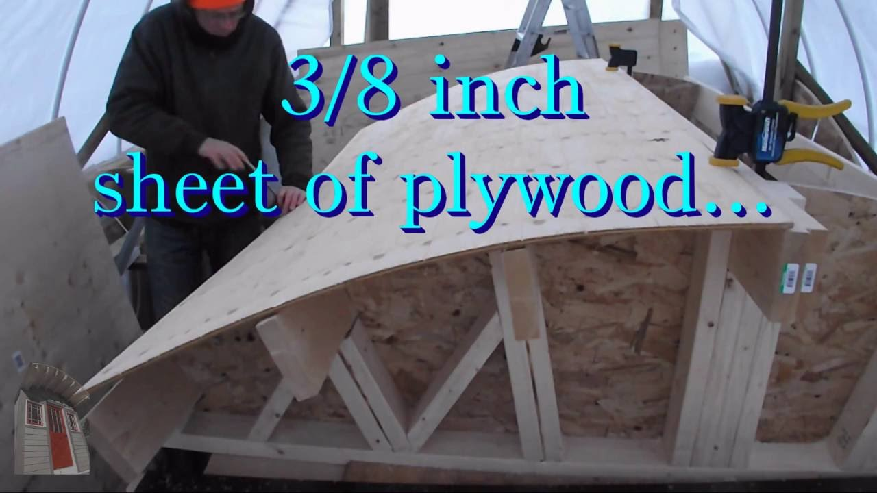 Tiny House Build Barrel Roof Framing Youtube