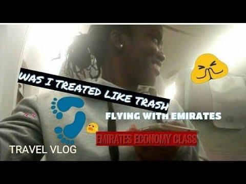 FLYING WITH EMIRATES USING ECONOMY CLASS TO LAGOS,NIGERIA|TRAVEL VLOG 03