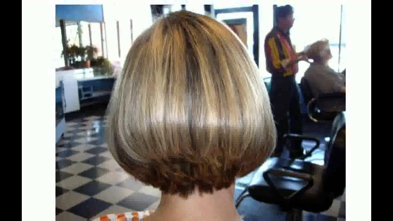 back views of short stacked haircuts - youtube