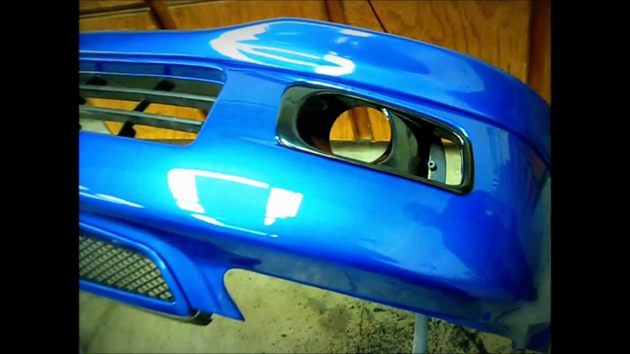 Honda Civic SI JDM style foglight install - YouTube