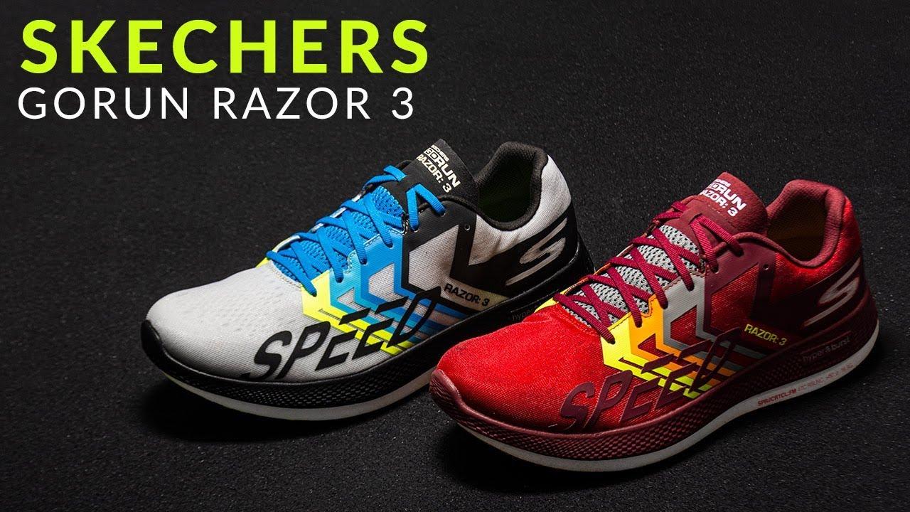compañero Debería Celebridad  Skechers GoRun Razor 3 - Running Shoe Overview - YouTube